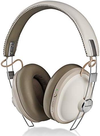 Panasonic Retro Noise Cancelling Bluetooth Wireless HeadphoneVoice Assist Microphone Deep Bass Enhancer 24 Hours Playback -RP-HTX90N-W (Vanilla White)