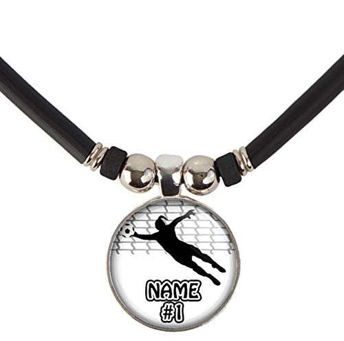 Customizable Girls Soccer Goalie/Goalkeeper Pendant Necklace-Girls and Women's Soccer Player Pendant Charm Jewelry