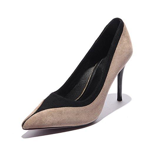Damenschuhe und Von Heel EIN Licht Beige Schlanke einfacher Der stilvolle Satz TIPP High 35 Skripten Shoes 87xxwRqd