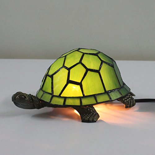 Turtle Tiffany Mini - Tiffany Style European Creative Green Turtle Tortoise Cuckold Table Lamp Children's Lamp Night Light