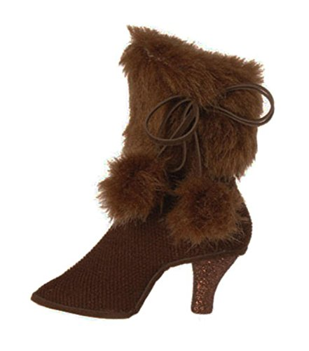 Faux Fur Christmas Boot - 2
