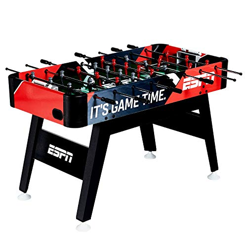 Soccer Table Foosball Action (MD Sports ESPN 54-Inch Foosball Soccer ArcadeTable with Bead Scoring and Accessories)