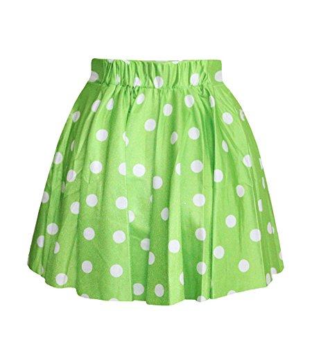 Molly Tutu Jupe Dot Short Mini Jupes Plisse Des Femme Vert