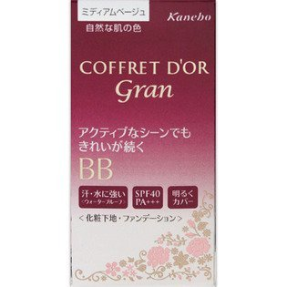 Japan Health and Beauty - Kanebo Coffret Doll Gran (COFFRET D'OR gran) cover fit BB25g (waterproof) Color: Japan Health and Beauty - Medium Beige SPF40 PA +++ *AF27* by Coffret Doll
