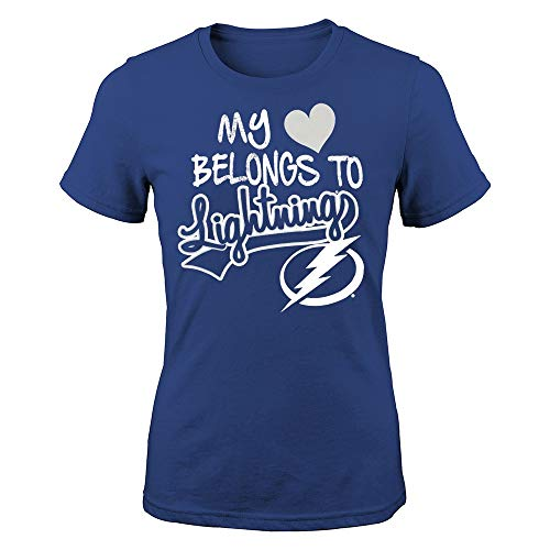 Outerstuff Tampa Bay Lightning NHL Girls Blue My Heart Belongs to T-Shirt