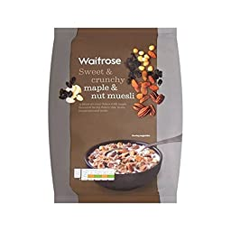 Crunchy Maple & Nut Muesli Waitrose 1kg - Pack of 2