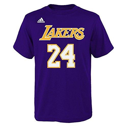 adidas Kobe Bryant Los Angeles Lakers #24 NBA Youth Gametime Player T-shirt (Youth Medium (Kobe Bryant Nba)