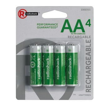 RadioShack 1.2V/2500mAh AA Ni-MH Batteries (4-Pack)