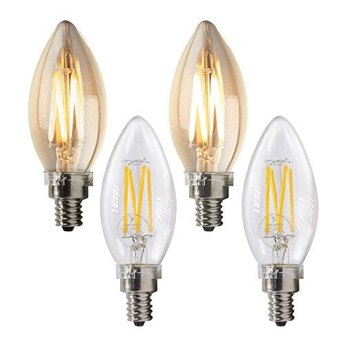 eTopLighting 4 Pack) LED Filament 40 Watt Dimmable 120 Vo...