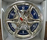 CHROME SPORTS WHEEL DECORATIVE WALL CLOCK,SPOKES,CALIPER,ROTOR,TOOL SHAPED HANDS Review