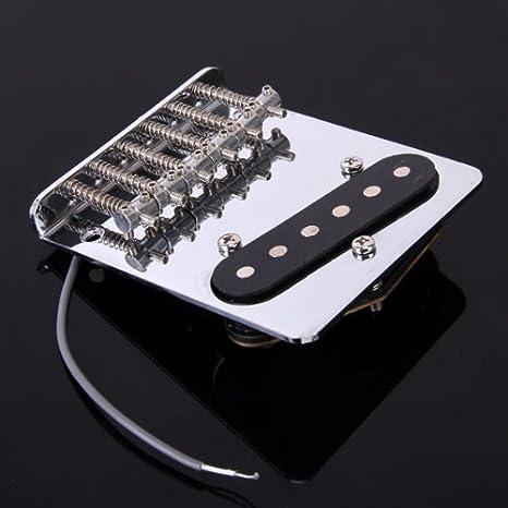 Puente Cromado Vintage + Pastilla Para Guitarra.: Amazon.es ...