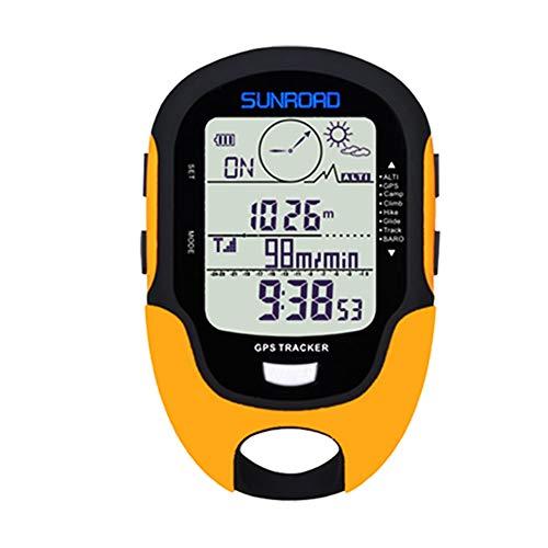 Gyswshh SUNROAD Multifunctional Handheld USB Compass Altimeter Barometer Digital Watch Yellow ()