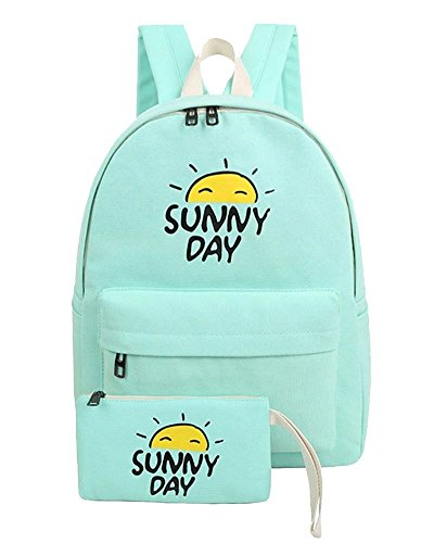 Canvas Messenger Bag Girl Laptops For Yilianda Canvas Woman Backpacks Casual Green Purse School AwztxtgX