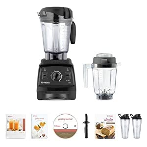 Vitamix 7500 Blender Super Package, with 32oz Dry Grains Jar and 2- 20oz To-Go Cups (Black)