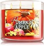 Bath & Body Works 3 Wick Candle 14.5 Oz Pumpkin Apple