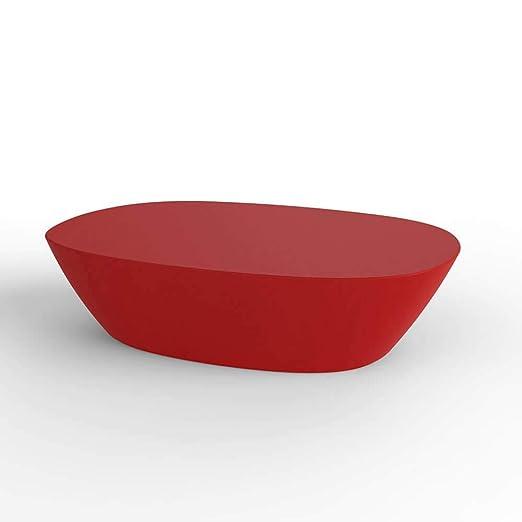 Vondom Sabinas mesa baja de exterior 120x80 cm rojo: Amazon.es: Jardín