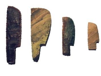 Juego de cuchillos de piedra experimentales arqueología ...