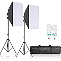 Selens 1200W Professional Photography Lighting Kit with 20x28 Softbox, E27 Socket Light Bulbs, stands,   Carrying Bag for Photo Studio Portraits,Product Photography and Video Shooting
