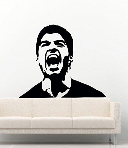 スポーツ壁デカール子供の部屋の人気Soccer Playerホームビニール装飾ステッカー壁画mk1110   B06XWFBTZQ