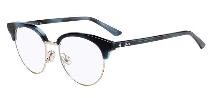 e665c98f46 Lunettes de Vue Dior MONTAIGNE 58 BLUE HAVANA femme: Amazon.fr ...