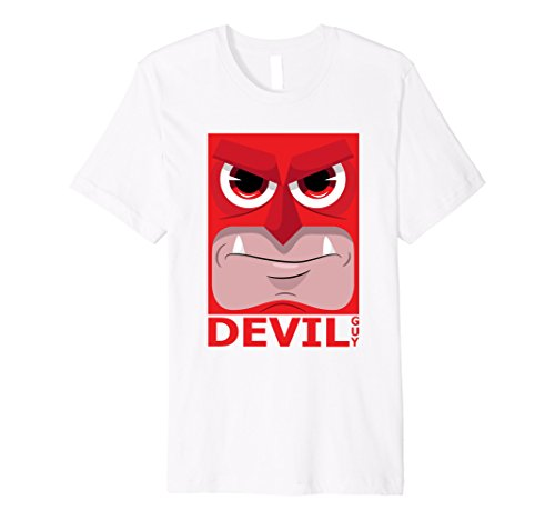 Mens Devil Guy Monster Halloween T-Shirt - Scary Monsters Tees Large White (White Guy Halloween Ideas)