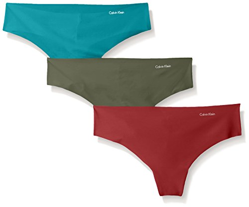 ddfe0b6645ede8 Calvin Klein Women's 3 Pack Invisibles Thong Panty - Import It All