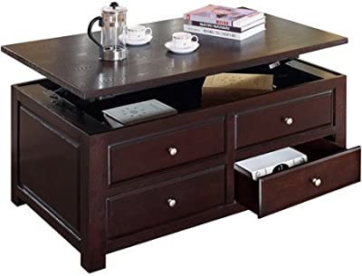Amazon Com Magnussen Darien Wood Lift Top Cocktail Table