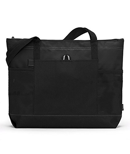 Gemline Select Zippered Tote - Black from Gemline