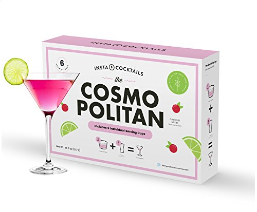 Insta-Cocktails The Cosmopolitan Cocktail Mixer, makes 6 drinks, 24 fluid ounces