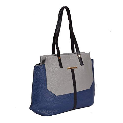 Braccialini , Sac pour femme à porter à l'épaule gris gris/bleu
