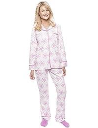 Womens Microfleece Pajama Sleepwear Set