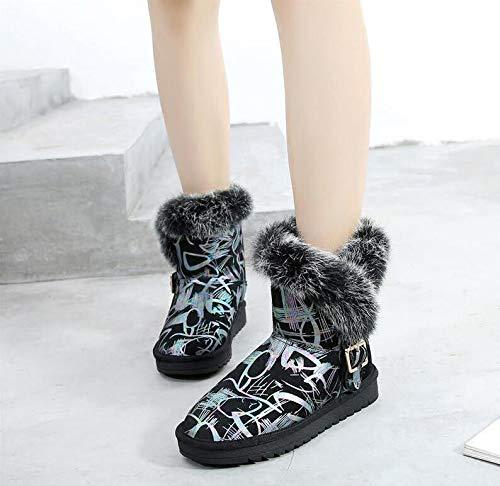 AGECC Damen Stiefel Stiefel Stiefel Bequeme Schöne Haltbare Haut Runde Kopf Schneeschuhe Weibliche Kurze Röhre Flachboden Dicke Frauen Schuhe Warme Und SAMT Stiefel dcd387