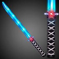 Deluxe Ninja LED ilumina la espada con sonidos activados de movimiento (3-Pack)