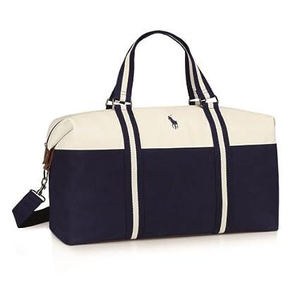 ever popular professional sale super quality Ralph Lauren blau-weiße Polo-Sporttasche, geräumige Designer ...