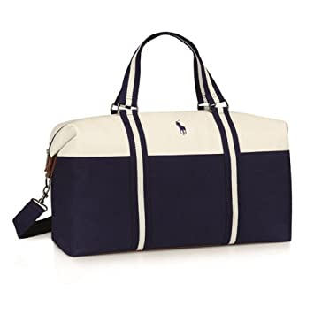 234abe16ce RALPH LAUREN BLUE   WHITE POLO DUFFLE HOLDALL DESIGNER GYM BAG WEEKEND  OVERNIGHT BAG  NEW