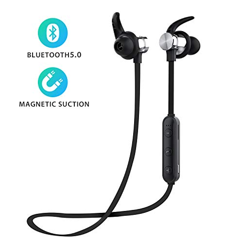 Bluetooth Headphones, ownta Bluetooth 5.0 Wireless Headphones,TF Card Playback,Magnetic Bluetooth Earbuds, Snug Fit for Running with Mic, Compatible with iPhone/Samsung/iPad/Android Smartphone b04
