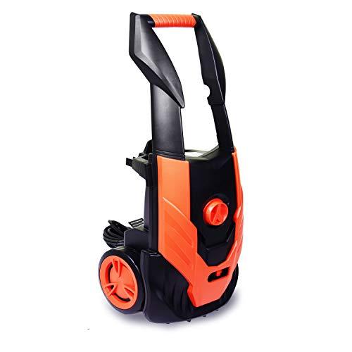 ENSTVER Electric Pressure Washer,1800PSI 1.8 GPM 1800W Washer Cleaner Machine Hose Reel,Spray Gun,Spray Brush,Nozzles Built in Soap/Foam Dispenser,ORANGE011