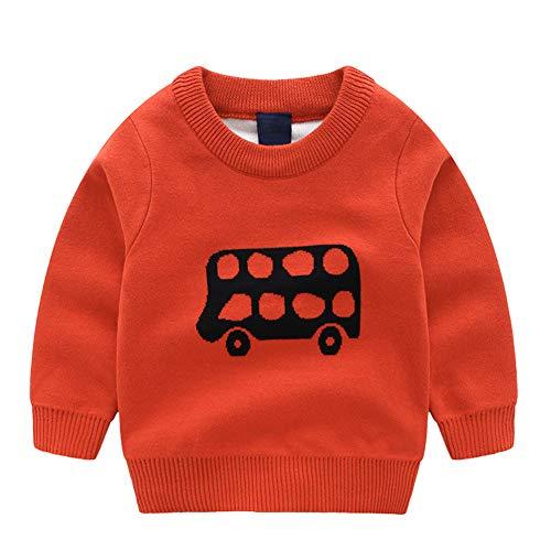 Jomago Boys Long Sleeve Sweater Cartoon Round Neck Knitting