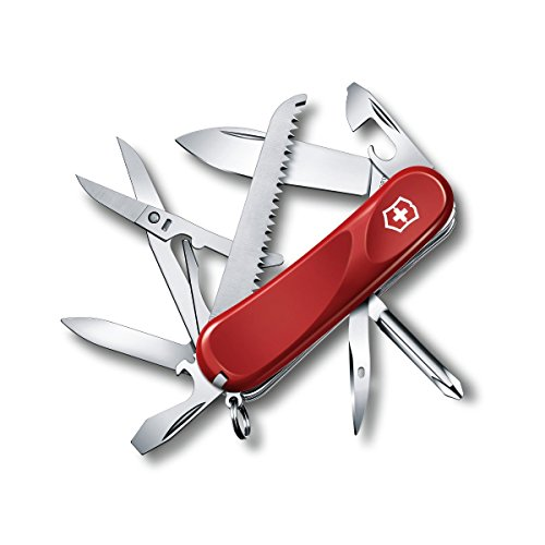 Victorinox Swiss Army Multi-Tool, Evolution 18 Pocket Knife, Red