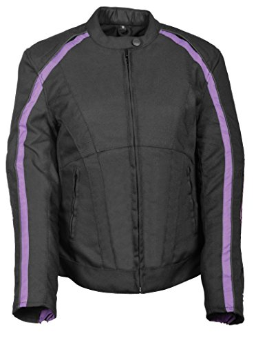 (Milwaukee Performance Women'sTextile Scooter Jacket (Black/Purp,4X-Large))