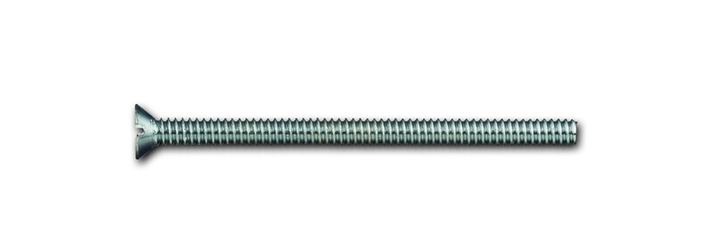 Powers Fastening Innovations 078049J-PWR Powers 6-32 by 3-Inch Flat Slotted Machine Screw Zinc 100 Pieces Per Jar Powers Fasteners