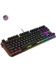 DREVO BladeMaster TE Clavier Gaming Mécanique Radi RGB Rétro-éclairé Programmable Genius-Knob 87K US Layout [ Gateron Switch Brown Tactile Tranquille ]
