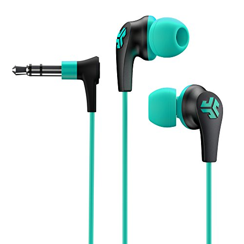 JLab Audio JBuds2 Premium in-Ear Earbuds Guaranteed Fit, Guaranteed for Life - Teal