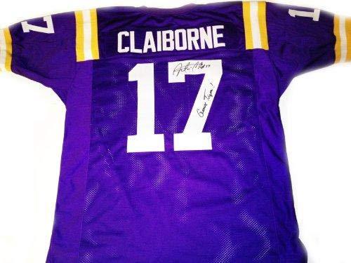 - Morris Claiborne Autographed Jersey - LSU Purple - Autographed College Jerseys