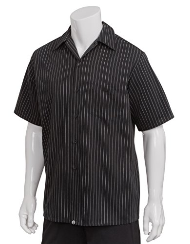 Chef Works Cook Shirt, Charcoal Dash X-Large