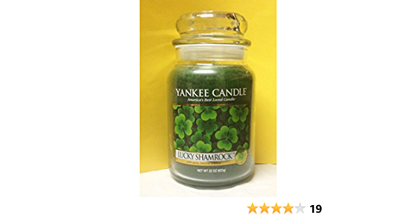 """Patrick/'s Day~Large 22 oz.~ NEW Yankee Candle /""""LUCKY SHAMROCK/"""" Green Grass ~ St"""