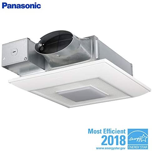 Panasonic FV-0510VSL1 WhisperValue DC Ventilation Fan Light with Pick-A-Flow Speed Selector, Low Profile, Extremely Quiet, Long Lasting, Easy to Install, Code Compliant, Energy Star Certified, White