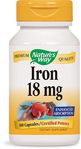Nature's Way Iron, 100 Capsules (Pack of 2)