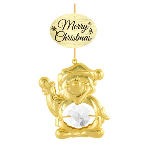 24K Gold Plated Santa Claus with Logo