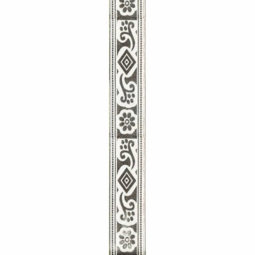 Offray Print Jacquard Craft Ribbon, 7/8-Inch x 9-Feet, Antique White (Discontinued by (Print Jacquard Ribbon)